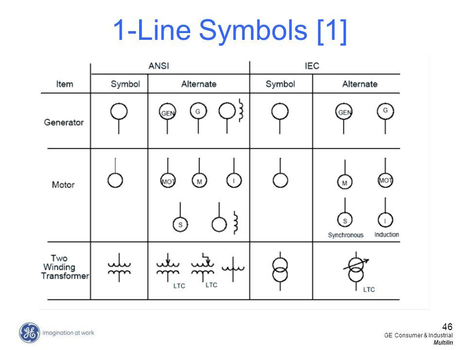 1-Line Symbols [1] 46 GE Consumer & Industrial Multilin